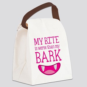 My bite is worse than my BARK Canvas Lunch Bag