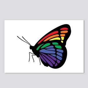 Rainbow Butterfly Gay Pride Postcards (Package of