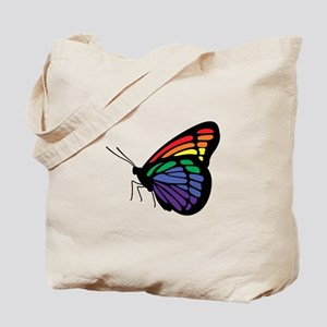 Rainbow Butterfly Gay Pride Tote Bag