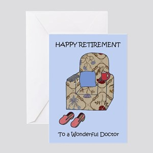 Doctor Happy Retirement. Greeting Cards