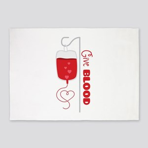 Give BLOOD 5'x7'Area Rug