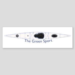 kayak-The Green Sport Bumper Sticker