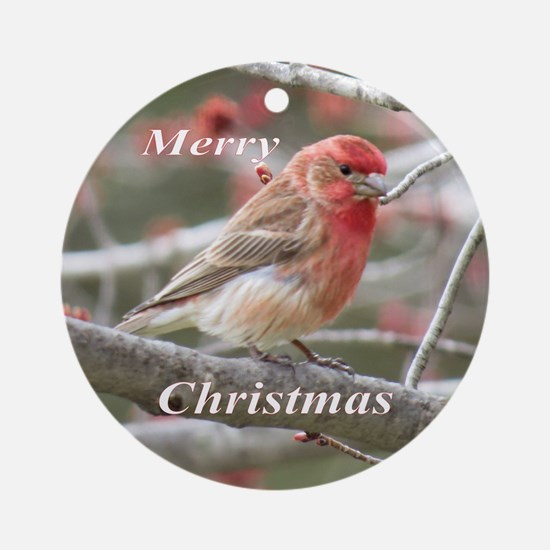 House Finch Ornament (Round)