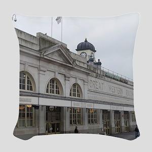 great western railway Woven Throw Pillow