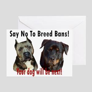 Say No To Breed Bans! Greeting Cards (Pk of 10