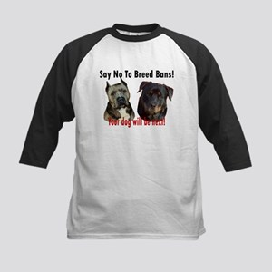Say No To Breed Bans! Kids Baseball Jersey