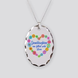 Granddaughter Love Necklace Oval Charm