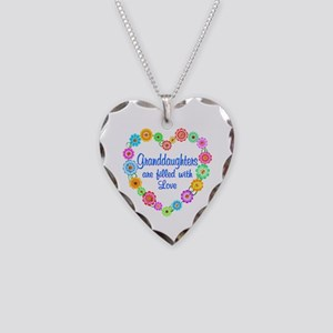 Granddaughter Love Necklace Heart Charm