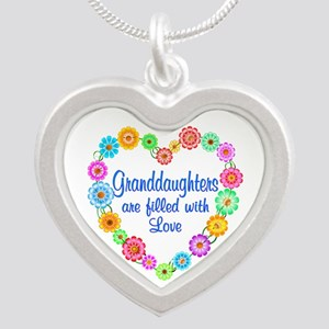 Granddaughter Love Silver Heart Necklace