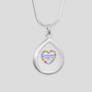 Granddaughter Love Silver Teardrop Necklace
