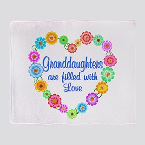 Granddaughter Love Throw Blanket