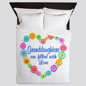 Granddaughter Love Queen Duvet