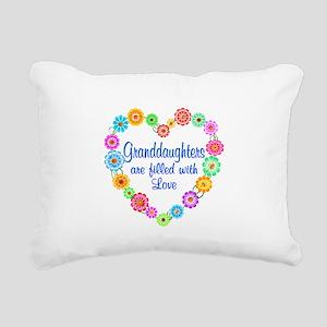 Granddaughter Love Rectangular Canvas Pillow