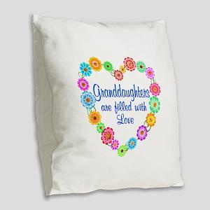 Granddaughter Love Burlap Throw Pillow
