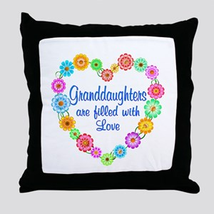 Granddaughter Love Throw Pillow