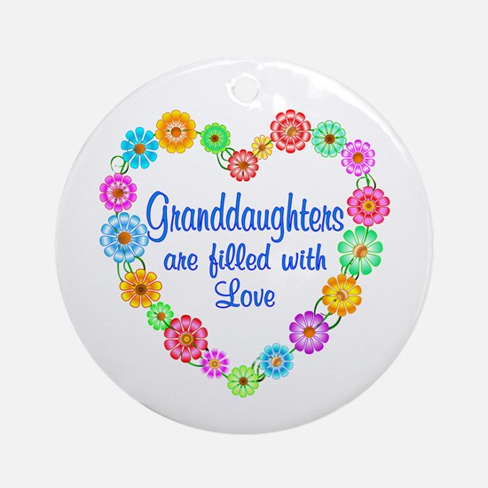 Granddaughter Love Ornament (Round)