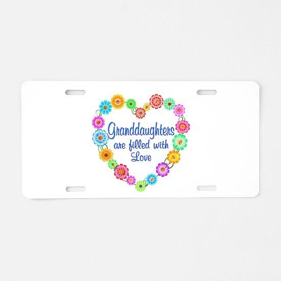 Granddaughter Love Aluminum License Plate