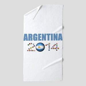 Argentina soccer Beach Towel