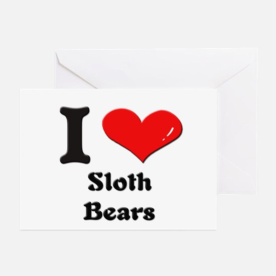 I love sloth bears  Greeting Cards (Pk of 10)