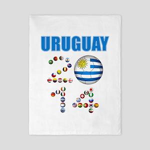 Uruguay soccer futbol Twin Duvet