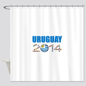 Uruguay soccer futbol Shower Curtain
