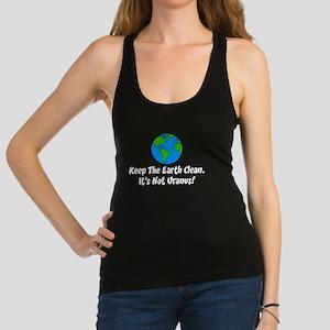 Keep The Earth Clean Racerback Tank Top