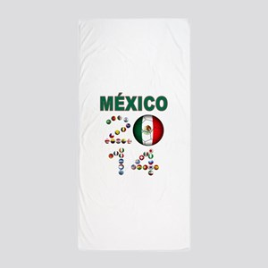 México futbol soccer Beach Towel