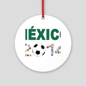 México futbol soccer Ornament (Round)