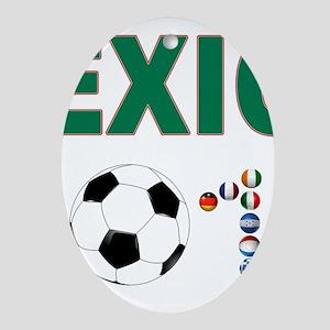 México futbol soccer Ornament (Oval)