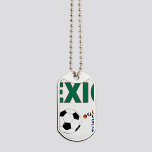 México futbol soccer Dog Tags