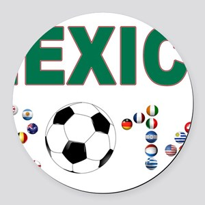 México futbol soccer Round Car Magnet