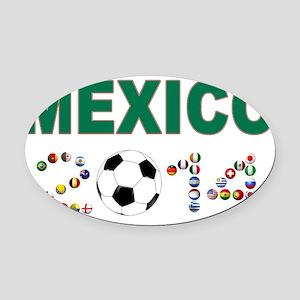 México futbol soccer Oval Car Magnet