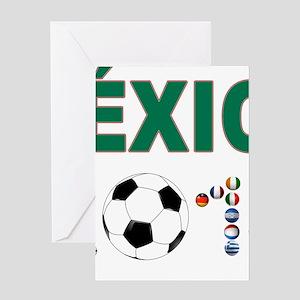 México futbol soccer Greeting Cards