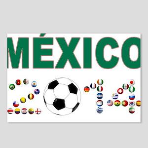 México futbol soccer Postcards (Package of 8)