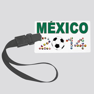 México futbol soccer Luggage Tag