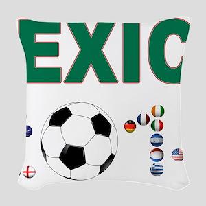 México futbol soccer Woven Throw Pillow