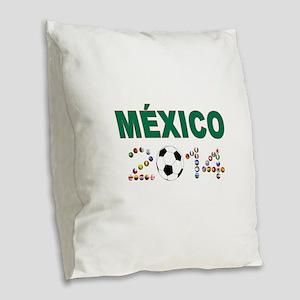 México futbol soccer Burlap Throw Pillow