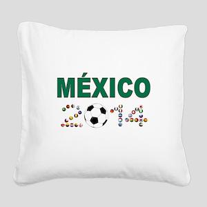México futbol soccer Square Canvas Pillow
