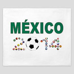 México futbol soccer King Duvet