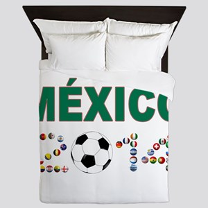 México futbol soccer Queen Duvet