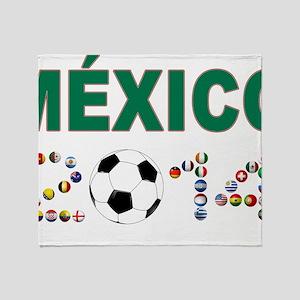 México futbol soccer Throw Blanket