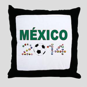 México futbol soccer Throw Pillow
