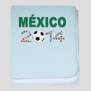 México futbol soccer baby blanket