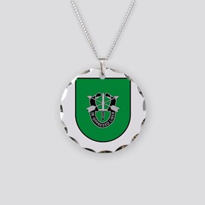 10th Special Forces Necklace Circle Charm