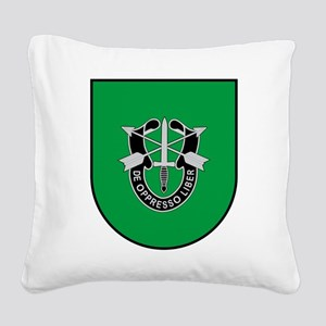 10th Special Forces Square Canvas Pillow