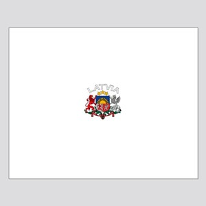 Latvia Coat of Arms (Dark) Small Poster