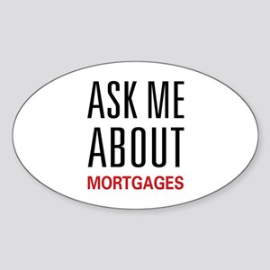 Ask Me Mortgages Oval Sticker