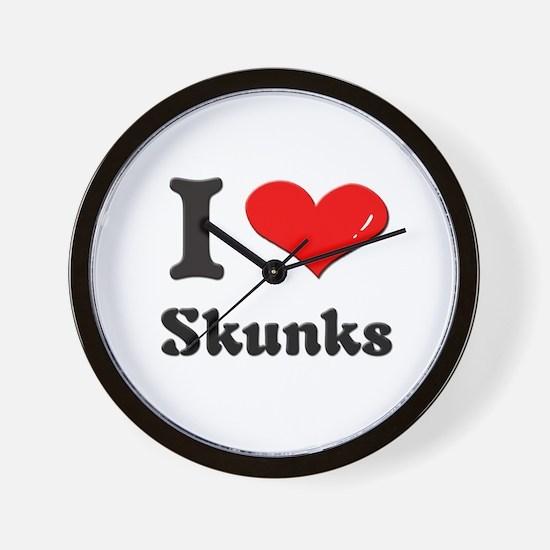 I love skunks  Wall Clock