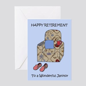 Happy Retirement to Janitor Greeting Cards