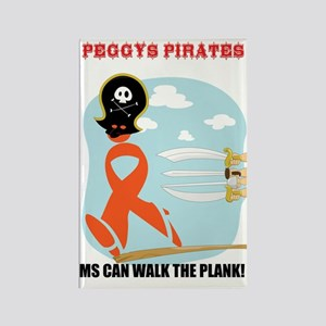 peggy's pirates Rectangle Magnet